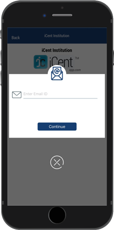 iCent app Login Step 3